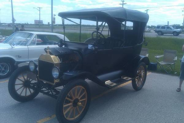 And my dad brought a real classic. Oldest car here a 1915