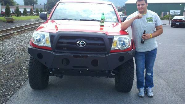 Dave got his bumper on