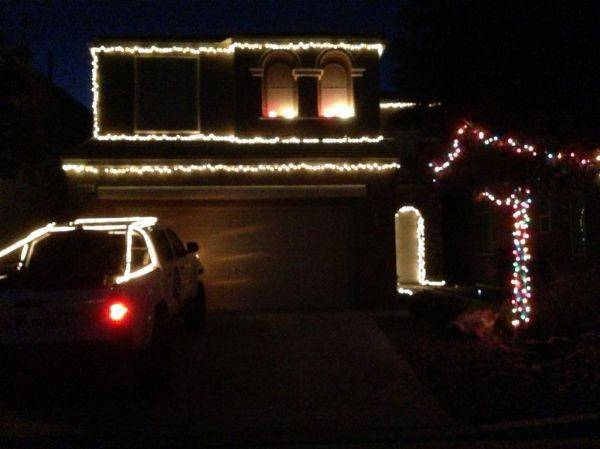 Put some lights on the house and truck today.