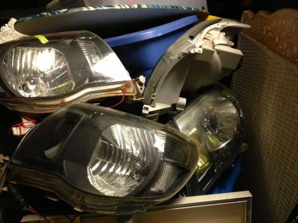 My stash of headlights