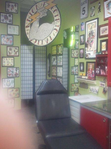 Union electric tattoo in Lawndale, Cali