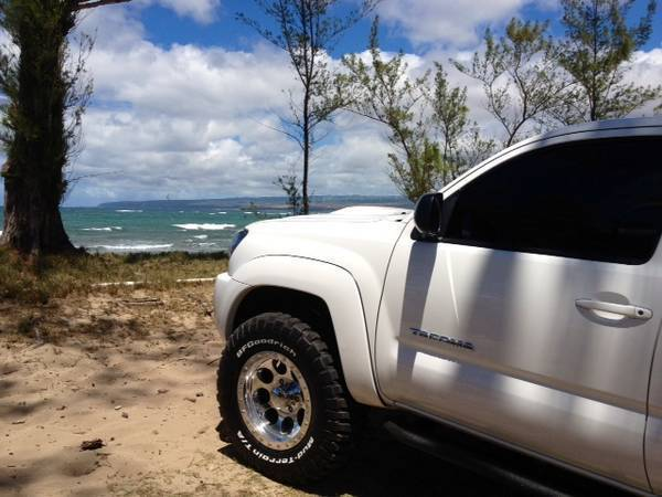 beach with new tires