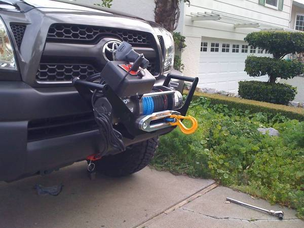 """Warn 26370 Multi Mount Portable 2/"""" Receiver Hitch Winch Carrier"""