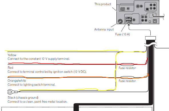 Wiring Diagram For Pioneer Avh P2300dvd : Pioneer avh p dvd wiring harness navigation