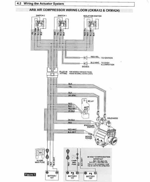 arb compressor wiring harness arb image wiring diagram rtmr wiring to arb locker and compressor tacoma world on arb compressor wiring harness