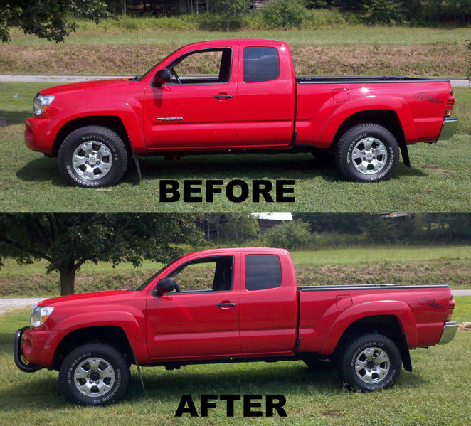 before and after lift (TACO_before_after jpg) | Tacoma World