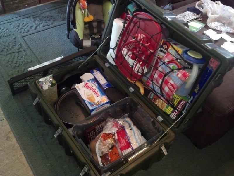 Bug Out Vehicle Storage : Food storage dry box camping kayaking kayak hardigg zombie