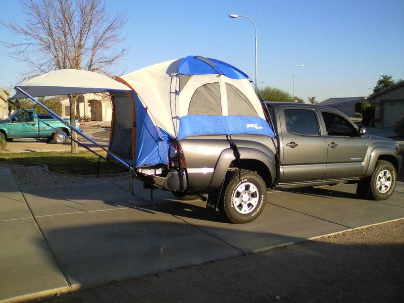 old setup napier sportz truck tent. Black Bedroom Furniture Sets. Home Design Ideas