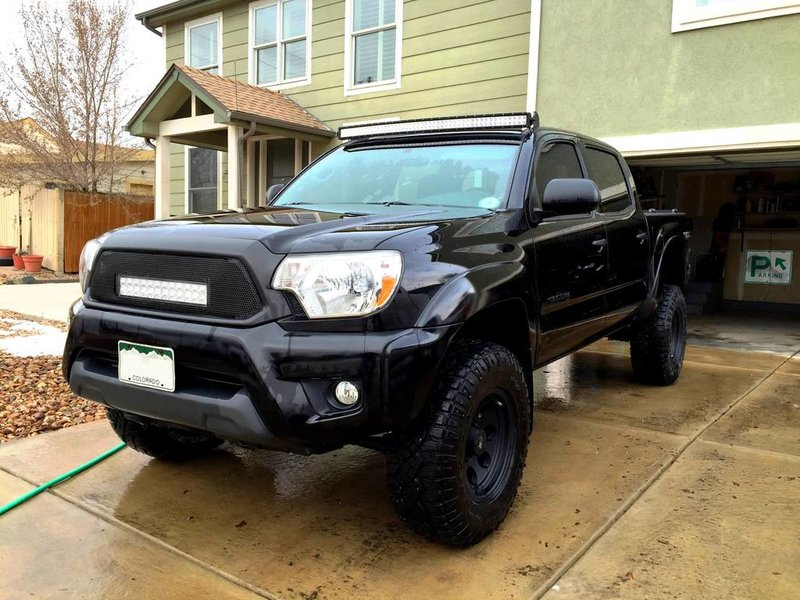 Tacoma trd roof and grill mounted led light bar 2015 01 tacoma trd roof and grill mounted led light bar mozeypictures Images